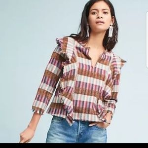 Anthro DRA Los Angeles  Boho Multi Colored Top